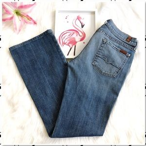 7 For All Mankind Bootcut Medium Wash Jeans 30x32